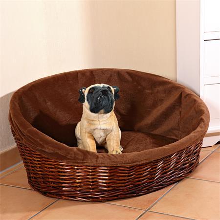 XXL Puppy Dog/Cat/Pet Animal Basket Bed Sofa Wicker Handmade + Cushion/Pillow