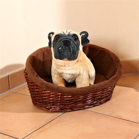 XS Puppy Dog/Cat/Pet Animal Basket Bed Sofa Wicker Handmade + Cushion/Pillow