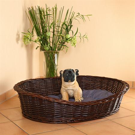 XXL Dog Bed Sofa Couch Pet Animal Willow Basket incl. Cushion 100cm