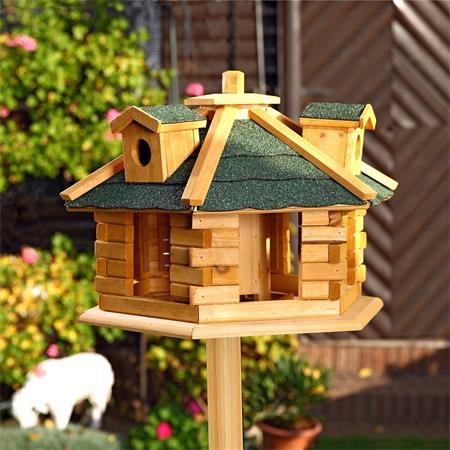 Aviary Volery Bird House Aviaries Nesting Box Wood Bird-seed Dispenser Feeder