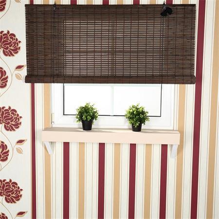 raffrollo jalousie bambus braun 100x160. Black Bedroom Furniture Sets. Home Design Ideas