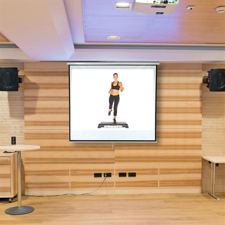 Home Cinema Wall Projection Screen Roller Projector HDTV 152 x 152 cm