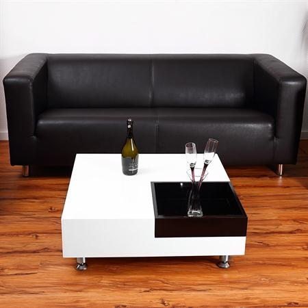 Cocktail Table Coffee Side Tables Glass-topped Table Designer White Square