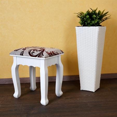 Stool Vanity Ottoman Dressing Table Makeup Stand White Country House Style