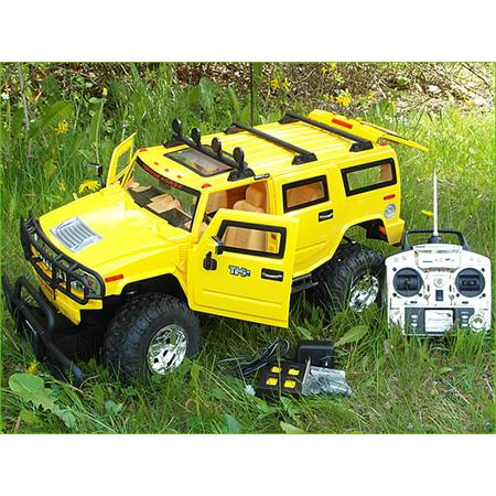 XXL 72cm RC Hummer yellow Light + Sound Effects 1:6 Jeep Truck Remote Control