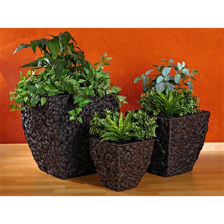 3 Flower Pot Set Planter Container Vase Tub Water Hyacinth Natural