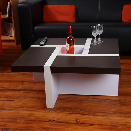 Coffee Table Side Table Glass Table in White Black Brown