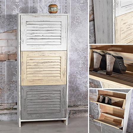 wandschrank highboard lamellen shabby chic. Black Bedroom Furniture Sets. Home Design Ideas