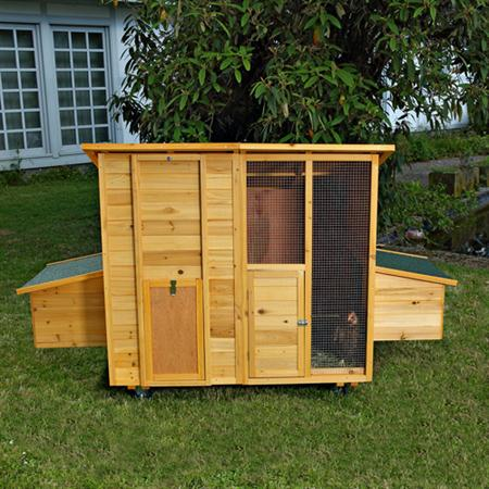 214cm Chicken Coop Henhouse Rabbit Hutch Stall Chickens Stall Animal Cage