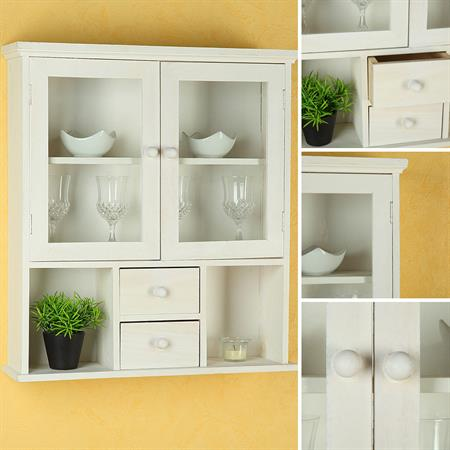 Display Cabinet Display Case Vitrine Rack Wall Cabinet Country Style