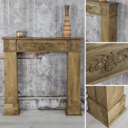 shabby deko kaminumrandung attrappe aus holz. Black Bedroom Furniture Sets. Home Design Ideas