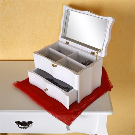 27cm Jewellry Box Armoire Casket Jewel Case Chest Trinket Stand Jewelery Storage