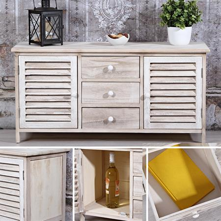 sideboard lowboard anrichte im shabby chic. Black Bedroom Furniture Sets. Home Design Ideas