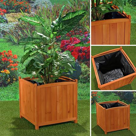 XXL Blumenkübel Pflanzkasten Blumenkasten aus Holz