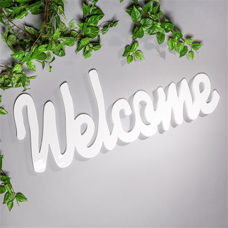 Wandtattoo Wandbild aus Holz / Welcome