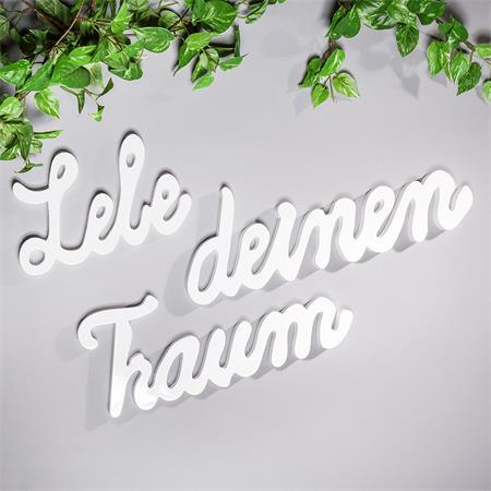 Wandtattoo Wandbild aus Holz / Lebe deinen Traum