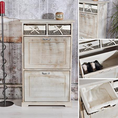 shabby schuhschrank schuhkipper vintage braun. Black Bedroom Furniture Sets. Home Design Ideas