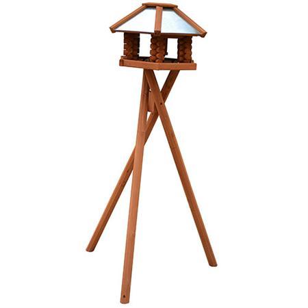 Vogelhaus Ständer für XXL Haus - dunkel