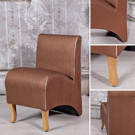 Mini Polster Sessel Stuhl - Braun