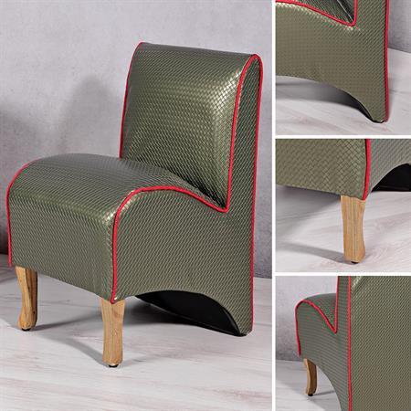 Mini Polster Sessel Stuhl - Grün