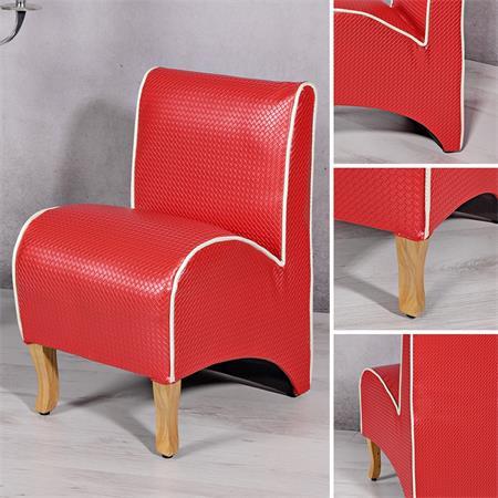 Mini Polster Sessel Stuhl - Rot