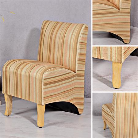 Mini Polster Sessel Stuhl - gestreift
