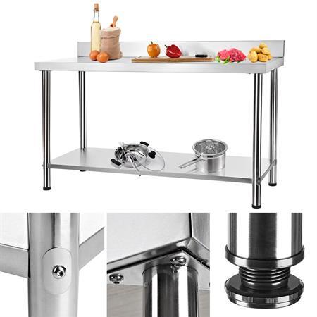 150x60CM Arbeitstisch Gastro Tisch aus Edelstahl
