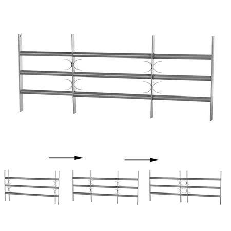 45x70-105CM Fenstergitter Einbruchschutz aus Stahl