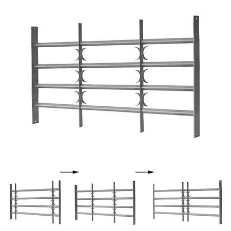 60x70-105CM Fenstergitter Einbruchschutz aus Stahl