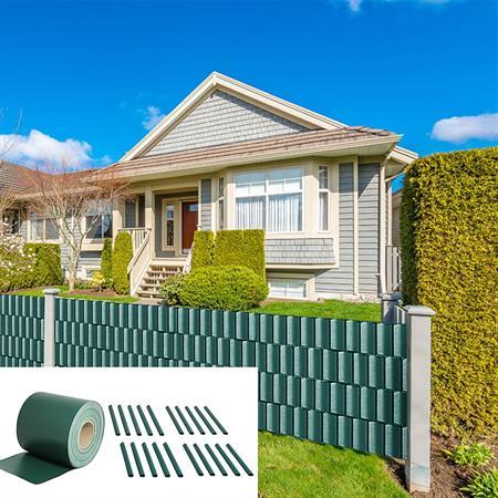 65M PVC Sichtschutz für Doppelstabmatten Zaun 19CM