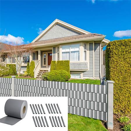 35M PVC Sichtschutz für Doppelstabmatten Zaun 19CM