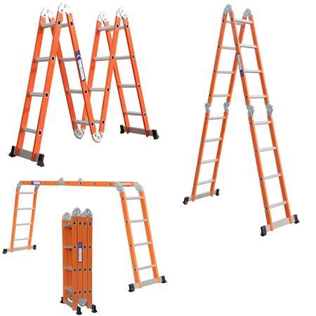 alu mehrzweckleiter stehleiter klappleiter orange. Black Bedroom Furniture Sets. Home Design Ideas