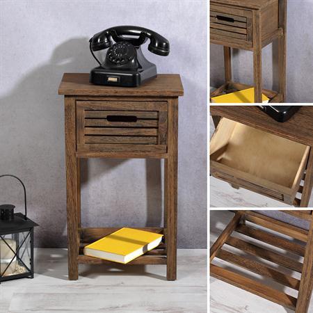 Telefontisch Nachttisch Regal in braun
