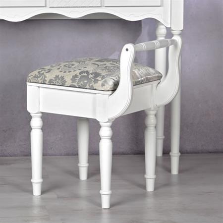 hocker gepolstert mit lehne in wei. Black Bedroom Furniture Sets. Home Design Ideas