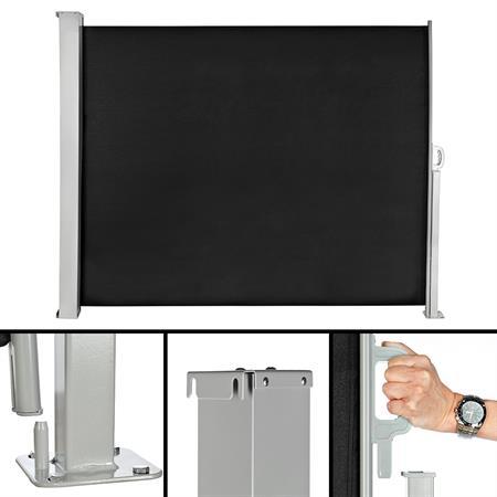 160x300CM Seitenmarkise / Sichtschut  - schwarz