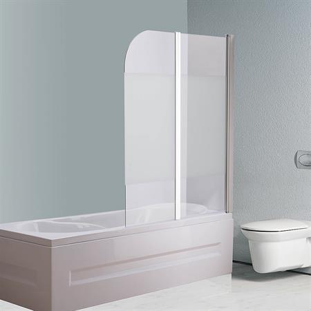 Badewannen Duschabtrennung aus Mattglas