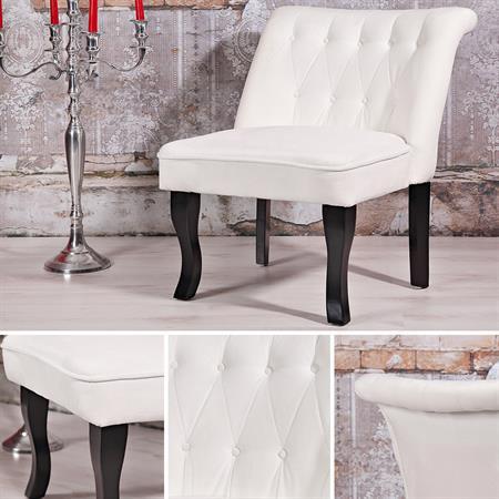 Polstersessel / Esszimmerstuhl in Weiß