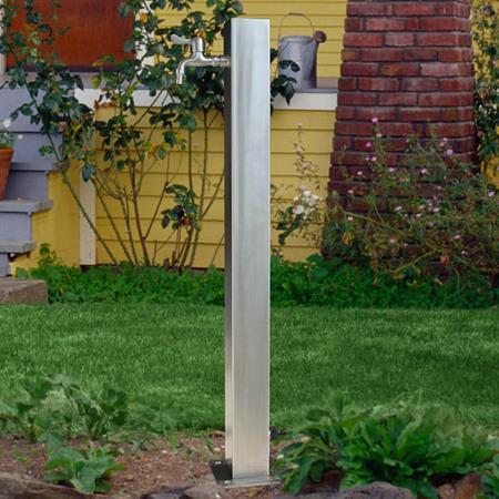 95CM Edelstahl Gartenzapfsäule Wassersäule