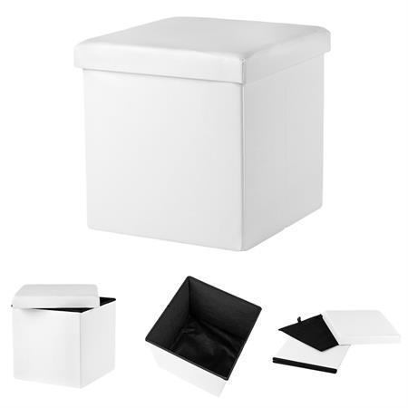 Faltbarer Sitzhocker Aufbewahrungsbox - Weiß