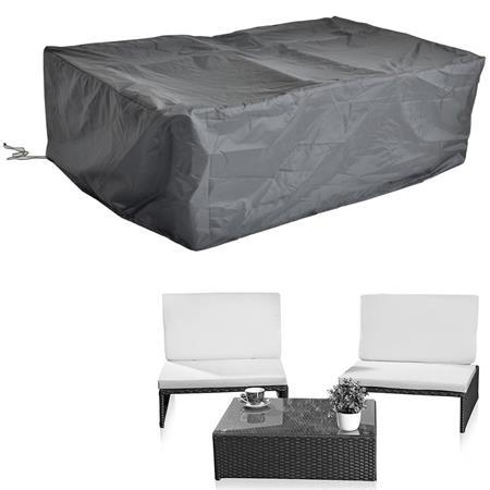 Schutzhülle für Rattan 2er Sessel+Tisch 145x138x35