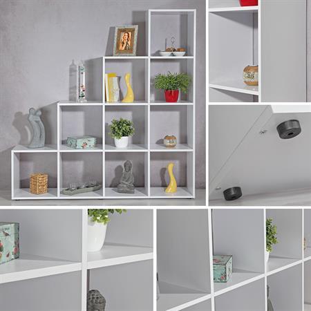 XXL Treppenregal Raumteiler Bücherregal - Weiß