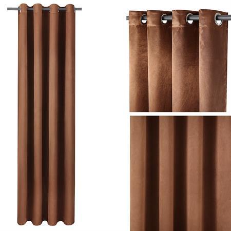 Gardine Vorhang mit Ösen - Braun
