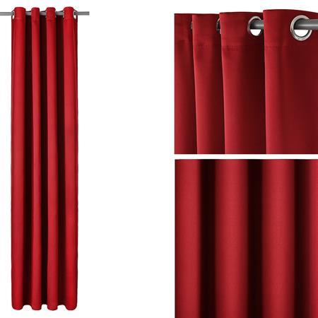 Gardine Vorhang mit Ösen - Rot