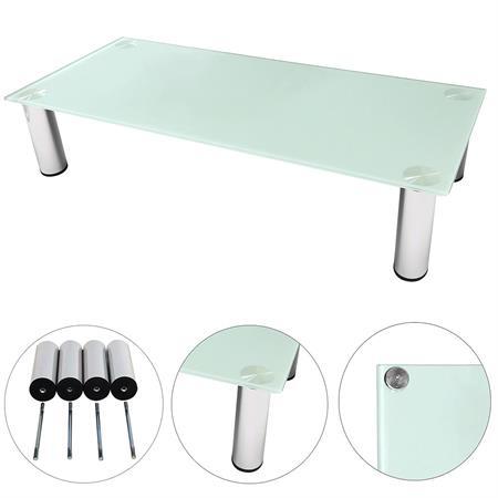 TV-Tisch aus Glas -  100cm  in weiß