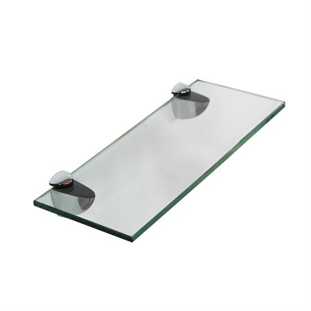 Glasboden inkl. 2 Edelstahlhalter - 200x100x6 mm