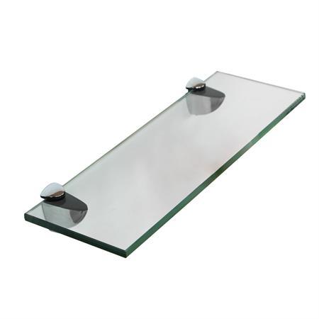 Glasboden inkl. 2 Edelstahlhalter - 400x100x8 mm