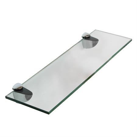 Glasboden inkl. 2 Edelstahlhalter - 500x100x6 mm