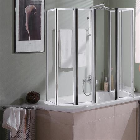 2x 3teilige Duschabtrennung aus Glas