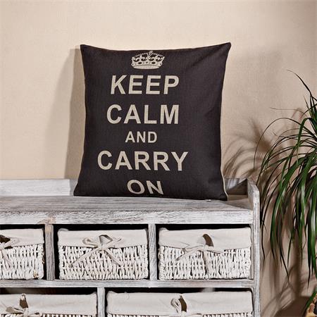Dekokissen Kissen inkl. Füllung -  Motiv Keep Calm