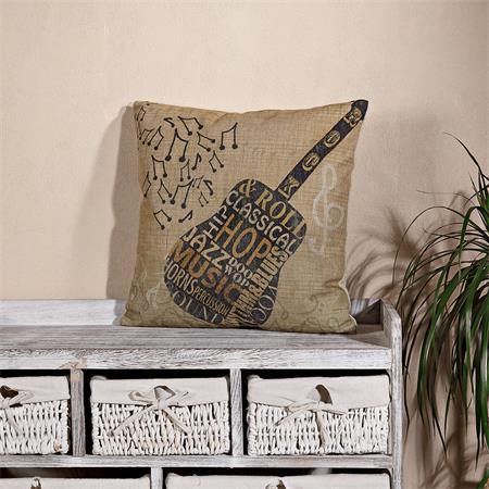 Dekokissen Kissen inkl. Füllung -  Motiv Gitarre